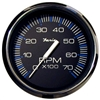 "Faria Chesapeake Black Stainless Steel 4"" Tachometer, 7,000 RPM (Gas, All Outboards) 33718"