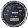 "Faria Chesapeake Black Stainless Steel 4"" Speedometer, 60MPH (GPS) 33726"