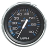 "Faria Chesapeake Black Stainless Steel 4"" Speedometer, 60MPH (Mechanical) 33704"