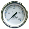 "Faria Chesapeake White Stainless Steel 4"" Tachometer, 4,000 RPM (Diesel, Mechanical Takeoff & Var Ratio Alt) 33842"