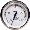"Faria Chesapeake White Stainless Steel 4"" Tachometer, 4,000 RPM (Diesel, Magnetic Pick-Up) 33818"