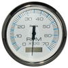 "Faria Chesapeake White Stainless Steel 4"" Tachometer with Hour meter, 7,000 RPM (Gas, Outboard) 33840"