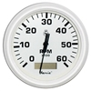 "Faria Dress White 4"" Tachometer Hour meter 6000 Rpm 33132"