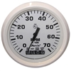 "Faria Dress White 4"" Tachometer with Systemcheck Gas 33150"