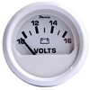 "Faria Dress White 2"" Voltmeter (10-16 VDC) 13120"