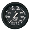 "Faria Euro Black 4"" Tachometer with Systemcheck Indicator, 7,000 RPM (Gas, Johnson/Evinrude Outboard) 32850"