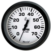 "Faria Euro White 4"" Tachometer 7000 Rpm Gas All Outboard 32905"