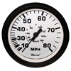 "Faria 4"" Speedometer, 80MPH (Mechanical), Euro White 32910"
