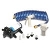 SHURFLO PRO WASHDOWN KIT II Ultimate, 12 VDC, 5.0 GPM, Includes Pump, Fittings, Nozzle, Strainer, 25' Hose