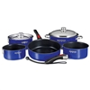 Magma Nesting 10-Piece Induction Compatible Cookware - Cobalt Blue Exterior & Slate Black Ceramica Non-Stick Interior