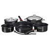 "Magma ""Nesting"" 10-Piece Induction Compatible Cookware - Jet Black Exterior & Slate Black Ceramica Non-Stick Interior"