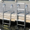 Dock Edge Aluminum Ladders, 5 Step Slide Up