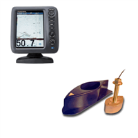 "Furuno FCV588 8.4"" Color GPS/Fishfinder with 526TID-HDD 1 KW Thru-Hull Triducer & Fairing Block"