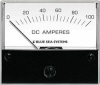 "Blue Sea 8017 DC Analog Ammeter, 2-3/4"" Face, 0-100Aeres DC"