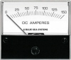 "Blue Sea 8018 DC Analog Ammeter, 2-3/4"" Face, 0-150Aeres DC"