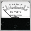 "Blue Sea 8243 DC Analog Micro Voltmeter, 2"" Face, 18-32 Volts DC"