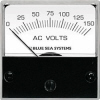 "Blue Sea 8244 AC Analog Micro Voltmeter, 2"" Face, 0-150 Volts AC"
