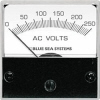 "Blue Sea 8245 AC Analog Micro Voltmeter, 2"" Face, 0-250 Volts AC"