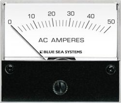 Blue Sea 9630 AC Analog Ammeter 0-50Aeres AC
