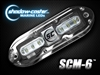Shadow-Caster SCM-6 LED Underwater Light with 20' Cable - 316 Stainless Steel Housing - Bimini Blue