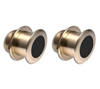 Raymarine B75LM (Low & Medium Frequency) 0 deg Pair Thru Hull CHIRP Transducers T70061