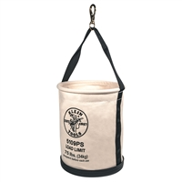 Klein Wide-Opening Straight-Wall Bucket - Inside Pocket and Swivel Snap 5109PS