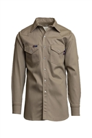 Khaki Flame Retardant Indura Shirt-9 oz #Laps-INK