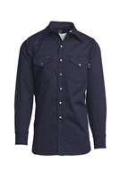 Navy Blue Flame Retardant Indura Shirt-9 oz #Laps-INN