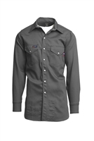 Grey 7 OZ. Grey Flame Retardant Shirt #Lapco-IGR7WS