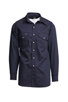 Navy Blue 7 OZ. Flame Retardant Shirt #Lapco-INV7WS