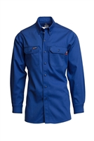Royal Blue 7 OZ. Flame Retardant Shirt #Lapco-IRO7