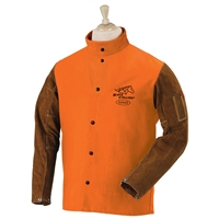 FO9-30C/BS FR Cotton & Cowhide Hybrid Welding Jacket, Orange