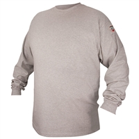 FTL6-GRY Flame-Resistant Cotton Long-Sleeve T-Shirt, Gray