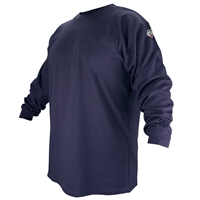 FTL6-NVY Flame-Resistant Cotton Long-Sleeve T-Shirt, Navy