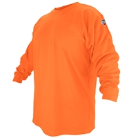 FTL6-Orange-Flame-Resistant Cotton Long-Sleeve T-Shirt, Safety Orange