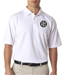 UltraClub® Men's Platinum Performance Jacquard Polo