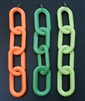 "5""-4 Link Flo Orange Plastic Chain"
