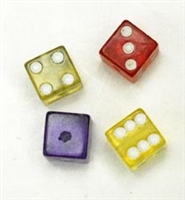 Colored Dice with hole 4pkg
