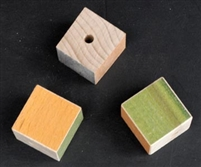 "Maple Colored Hardwood 1.25""x1.25"" Cubes 3pkg"