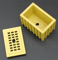 "Yellow Treat Box wth 1/4"" hole"