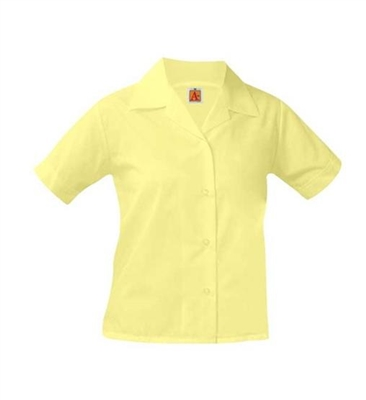 School Apparel Short Sleeve Pointed Collar Blouse