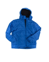 Fleece lined zip front hooded jacket