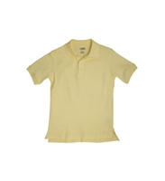 French Toast Flower Button Girls Knit Polo with Picot Collar