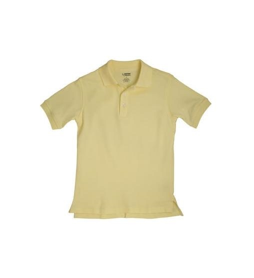 62e9054b French Toast Flower Button Girls Knit Polo with Picot Collar · Larger Photo