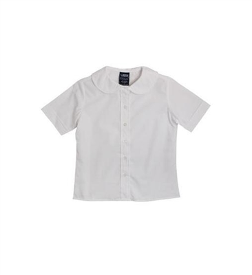French Toast Girls Short Sleeve Peter Pan Rounded Collar Blouse