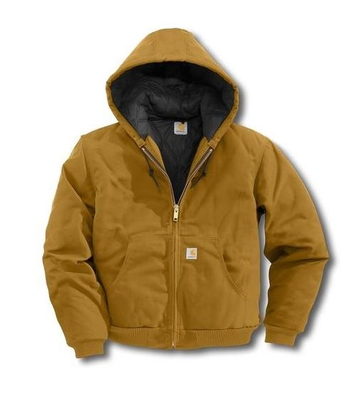 09e57e7da3d Carhartt Hooded Duck Jacket/Quilted Flannel Lined | Zemskys