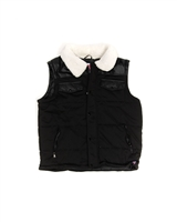 Big man's Sherpa Lined Zip Front Vest
