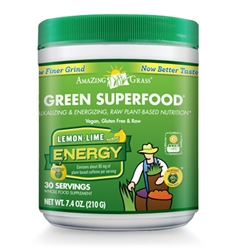 Amazing Grass Green Superfood Energy, Lemon-Lime Flavor (7.4 oz)