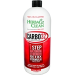 Herbal Clean QCarbo32 1 Step Maximum Strength Cleansing Formula, Tropical Flavor (32 fl oz)
