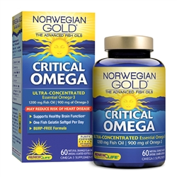 Norwegian Gold Critical Omega (120 softgels)